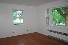 living room staging before