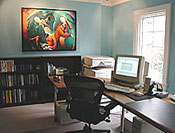 pristine home office