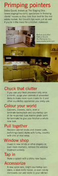 kitchen primping tips by Debra Gould