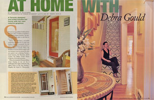 Debra Gould featured At Home in Woman's Day Magazine