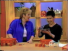 Debra Gould shares a laugh with Sue Warden on HGTV