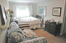 bedroom before staging by Debra Gould