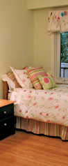 Girl's bedroom staged by Debra Gould