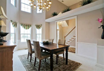dining room after staging by Gary Baugh