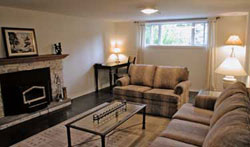 Basement after staging by Debra Gould