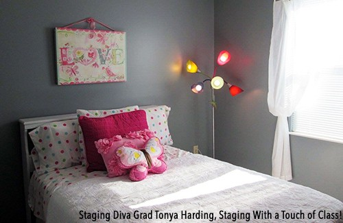 kids bedroom staging