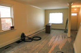 Vacant room before