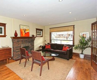 living room after staging consultation
