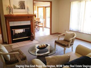Living Room After Staging Peggy Harrington
