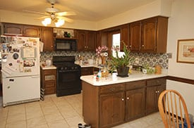 kitchen before staging Jodi Whalen
