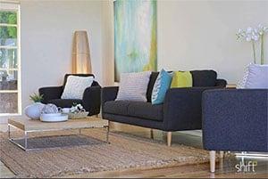 living room after home staging