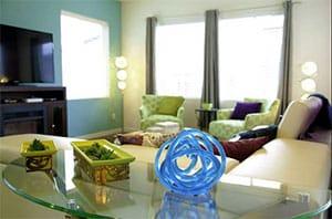 living room after staging artemis