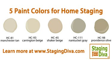 paint colors for home staging