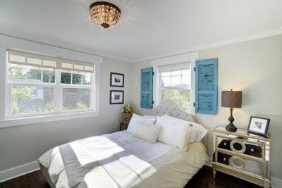bedroom after home staging career