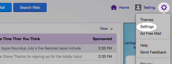 Yahoo whitelist step 1