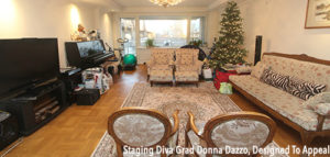 living room after home staging tips