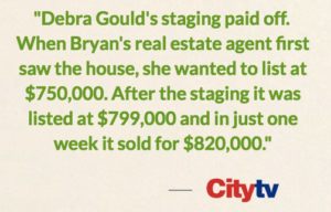 home staging expert Debra Gould on CityTV