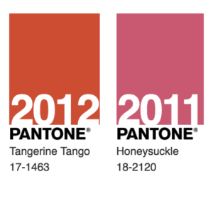 Pantone 2012 and 2011 Colors